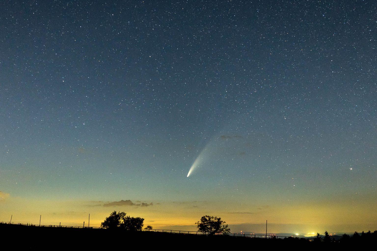 Komet Neowise, Wasserkuppe, Rhön